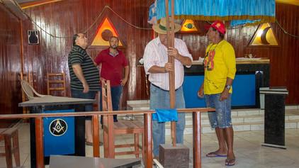 SGM Visita Obras de ampliação do Templo da BLS Paz e Fraternidade nº 29.