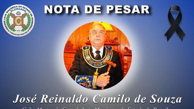 Nota de Pesar: Ir. José Reinaldo Camilo de Souza.