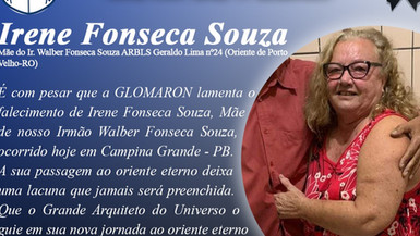 Nota de Pesar: Cunhada Irene Fonseca
