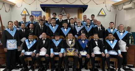 Grão-Mestre participa de Sessão magna de Iniciação na Loja Nilo Peçanha nº12.