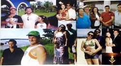 Montagem com as fotos da Familia
