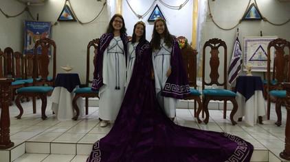 Cerimônia de Maioridade no Bethel Anjos da Luz nº 05 de Rolim de Moura.