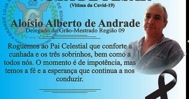 NOTA DE PESAR - IRMÃO ALOÍSIO ALBERTO DE ANDRADE.