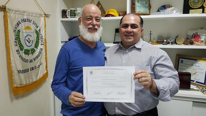 Irmão Santini, Doutor em Engenharia Elétrica.
