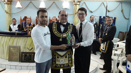 Participação dos DeMolay's na SAG realizada na Loja Maçônica Palmares Nº 19