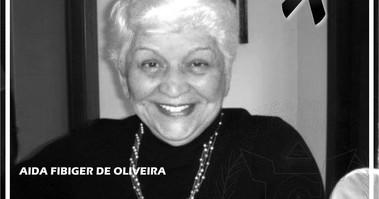 NOTA DE PESAR - Aida Fibiger - Esposa do Falecido Irmão Jorge Teixeira de Oliveira!
