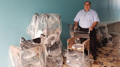 Centro Maçônico de Assistência à Saúde – CEMAS, recebe mais 10 cadeiras de rodas.