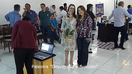 Psicóloga Fabiola Fernandes, apresenta palestra sobre a prevenção ao suicido na Loja Phoenix nº 30 e