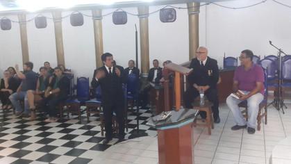 "Padre Sebastian apresenta palestra sobre ""Depressão e Suicídio"" na GBLS Loja Fé e Confianç"