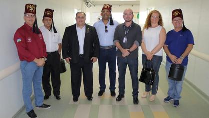 Nobres Shriners do madeira-Mamoré Club visitam ala de Cirurgia Plástica Reparadora do HB em Porto Ve
