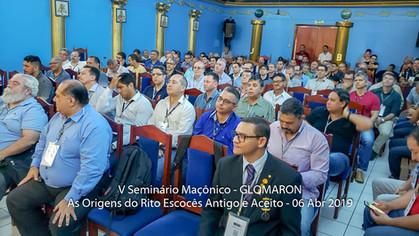 V Seminário Maçônico marca as Comemorações dos 34 Anos da Glomaron!
