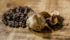 Black Garlic and Coffee Beans