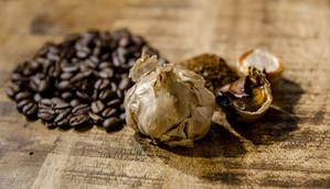 Black Garlic and Coffee Beans