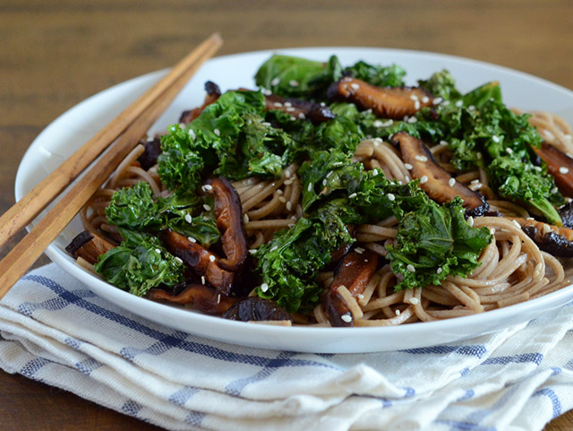 Black Garlic Soba Noodles