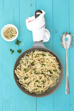 Black Garlic Creamy Linguini