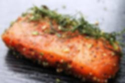 Miso-Cured Salmon with Asparagus and Bla