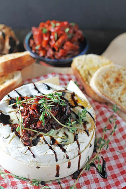 Baked Camembert with Black Garlic