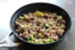 Bulgur Wheat Recipe with Black Garlic an