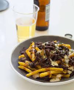 Black Garlic Braised Short Rib Poutine
