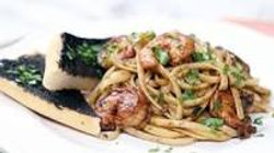 Black Garlic Shrimp Scampi
