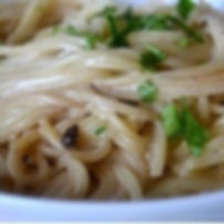 Creamy Spaghetti With Black Garlic & Par