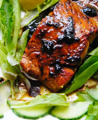 Salmon With Black Garlic Glaze.png