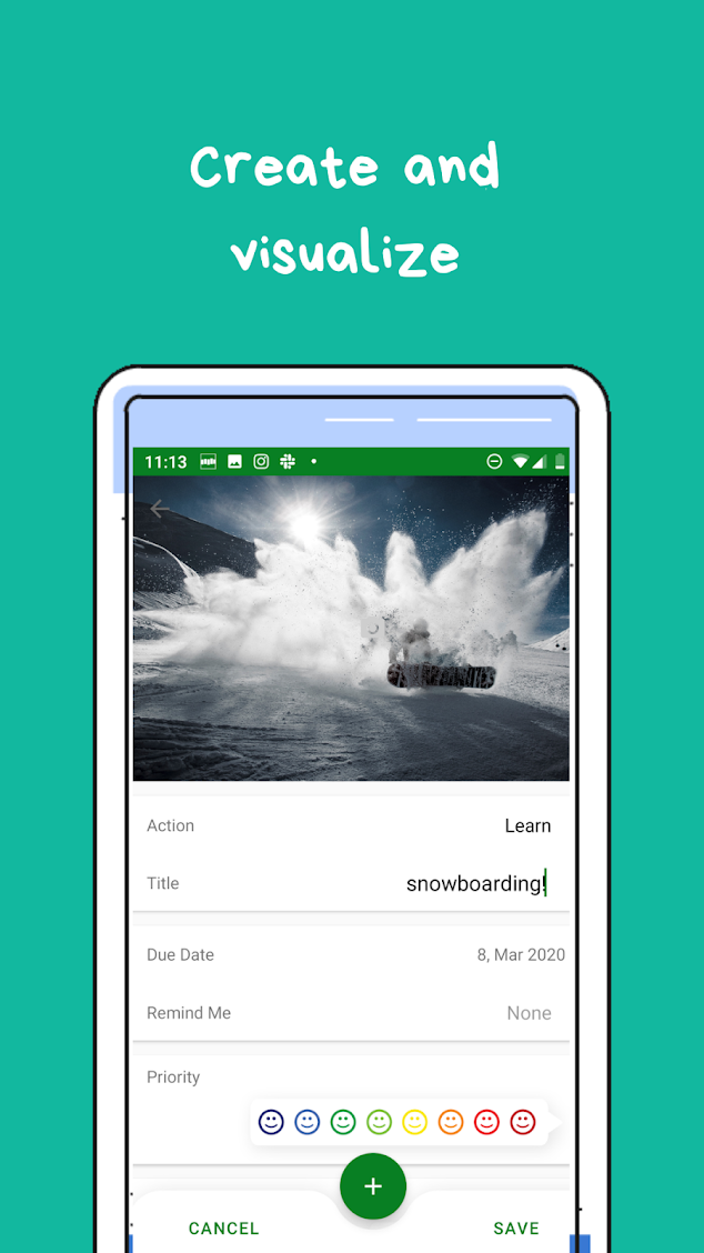 create wantshes screenshot of the app