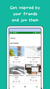friends, social, wantshes tab screenshot on the app