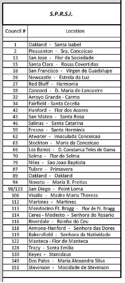 SPRSI Council List