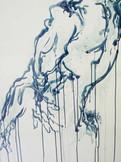 Male Dancer in Blue & Aqua