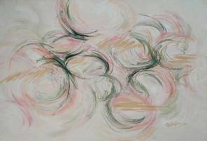 Green & Coral Swirls
