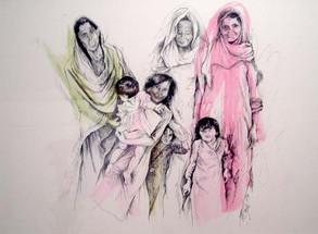 Women & Children in Fatimir Sikri