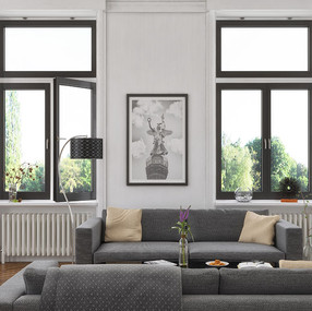 M 9650 Double Windows with Transom