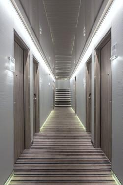 Hotel Door Light With Hidden Hinges, Covered With Hpl