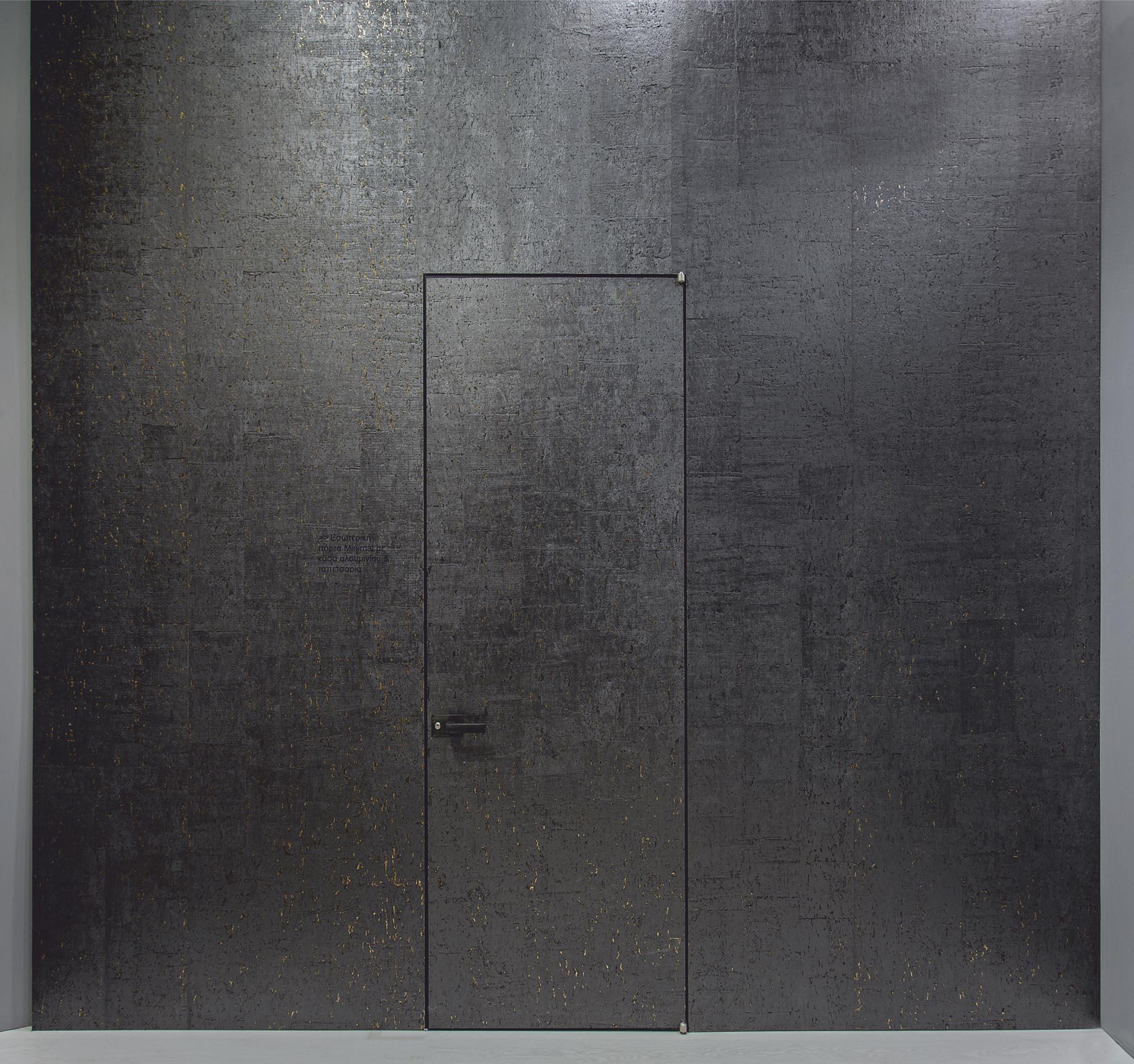 INTERNAL DOOR LESS WITH HIDDEN ALUMINUM FRAME & WALLPAPER PATTERN
