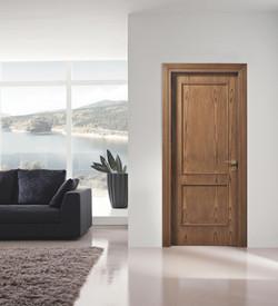 Internal panelled door with natural veneer