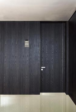 Hotel Door Light with hidden hinges, covered with natural veneer