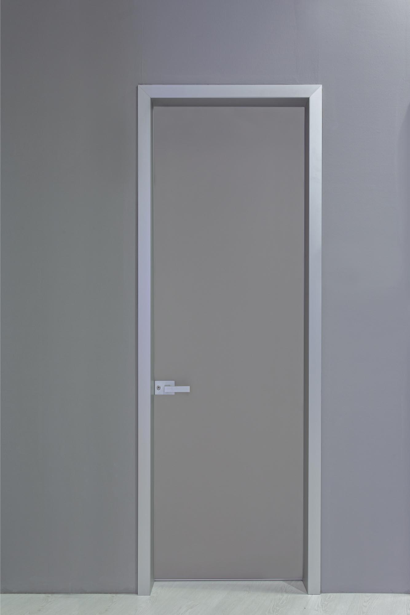 INTERNAL DOOR MINIMAL WITH ALUMINUM FRAME & SATINATO GLASS