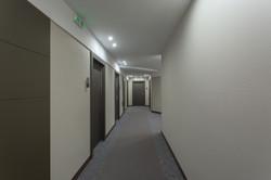 Hotel Door Light With Hidden Hinges, Covered With Wood Grain.,