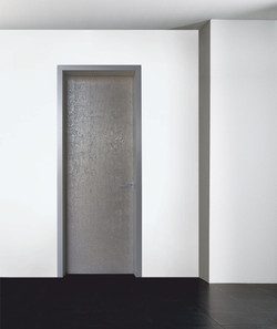 INTERNAL DOOR MINIMAL WITH ALUMINUM FRAME & WALLPAPER PATTERN