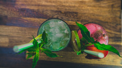 mint and strawberry mojito mocktails