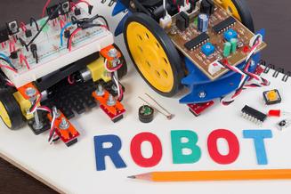 Robot building: Olentangy District Robotics Team