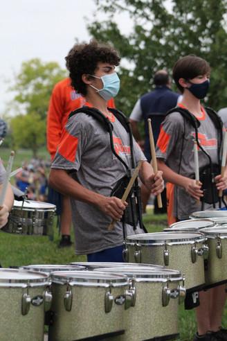 Back Together Again performance: Orange band makes public debut during coronavirus