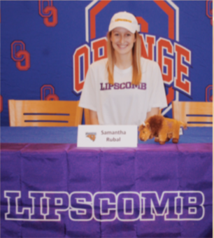 Senior Sami Rubal of cally signs to Lipscomb University to further her academic and athletic career.