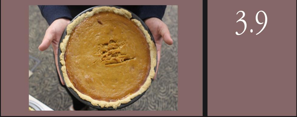 Pumpkin pie, non-vegan. Photo credits by Sami Level and Sami Welsh