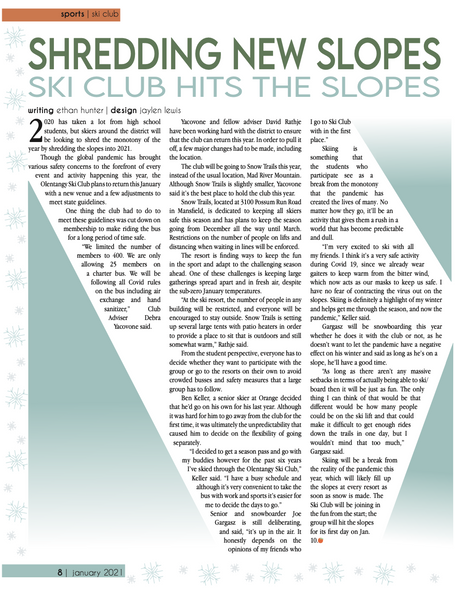 Shredding new slopes: Ski club hits the slopes