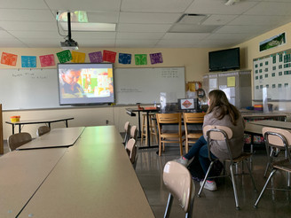 4.17.21 -- Grab the popcorn: Spanish club hosts movie event for members