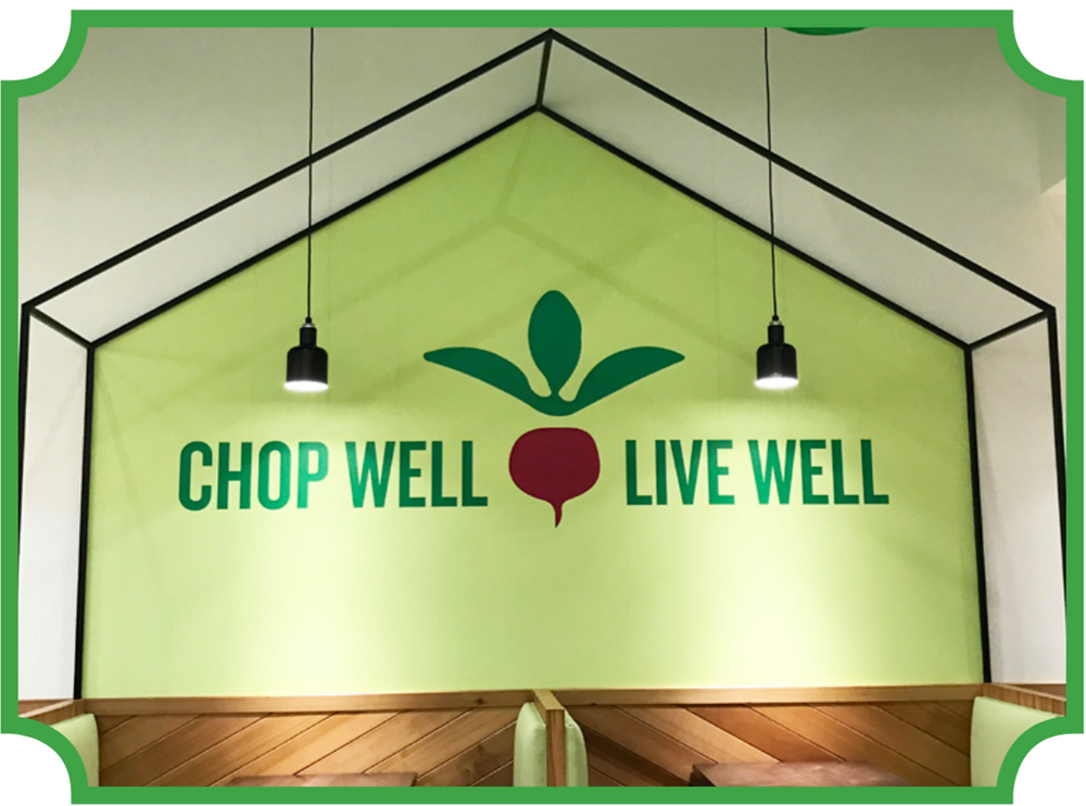 "Chop5 has ""chop well live well"" painted on one of the walls. Photo credit by Alyssa Young"