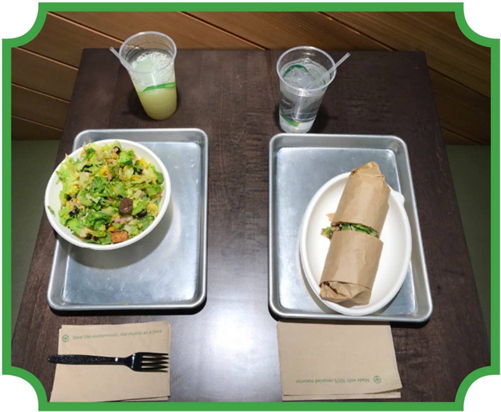 Chop5 offers many healthy food choices, including a build-your-own salad or wrap. Photo credit by Alyssa Young
