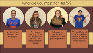 Hallway Talk: What are you most thankful for?
